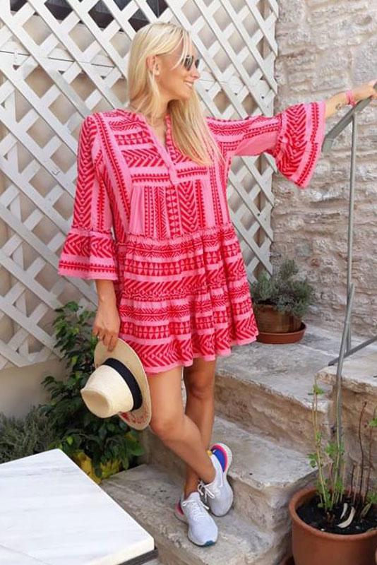 vollständig in den Spezifikationen Bestellung sehr bequem DEVOTION TWINS zakar dress Pink Red