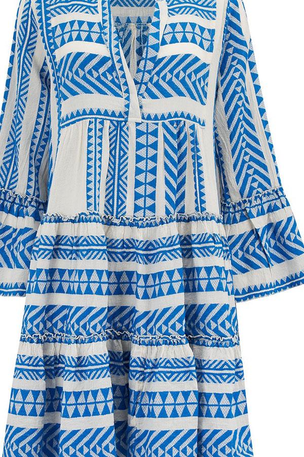 USA billig verkaufen Repliken an vorderster Front der Zeit Devotion twins blue Midi zakar dress ( LONGER)