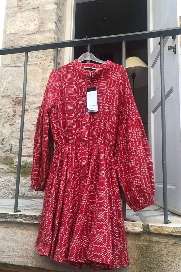 99ad5d4f0e0 Zakar Devotion dress embroidery red- beige - 2the Little Store ...