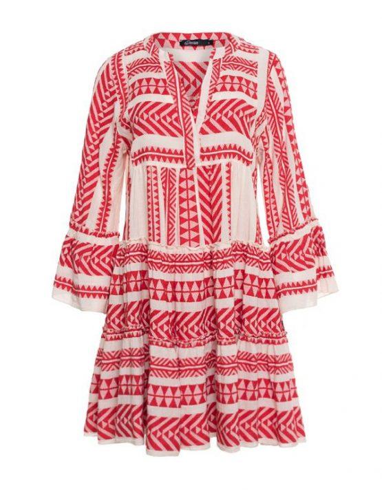 Devotion twins ellla dress red beige short
